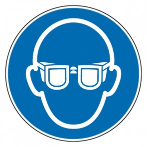 Aufkleber Augenschutz benutzen
