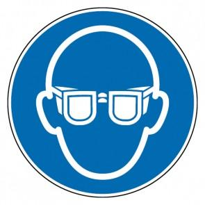 Aufkleber Gebotszeichen Augenschutz benutzen | stark haftend