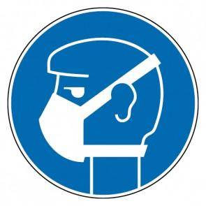 Gebotsschild Leichten Atemschutz tragen
