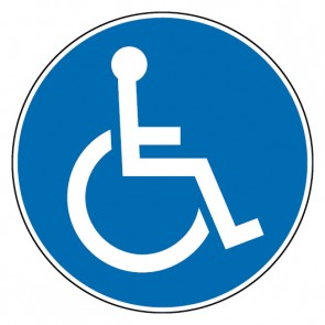 Gebotsschild Rollstuhlfahrer