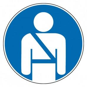 Gebotsschild Sicherheitsgurt benutzen