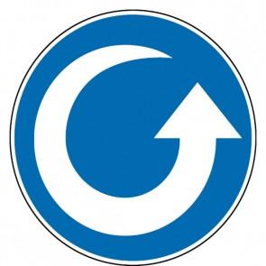 Gebotsschild Drehrichtung gegen Uhrzeigersinn