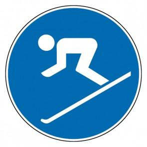 Gebotsschild Ski fahren erlaubt