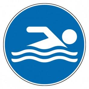 Gebotsschild Schwimmen erlaubt