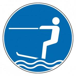 Gebotsschild Wasserski fahren erlaubt