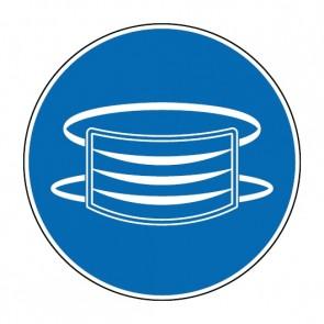 Gebotszeichen Mundschutz tragen · Magnetschild - Magnetfolie