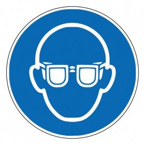 Aufkleber Gebotszeichen Augenschutz benutzen · ISO 7010 M004