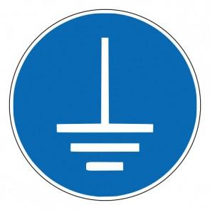 Aufkleber Gebotszeichen Vor Benutzung erden · ISO 7010 M005