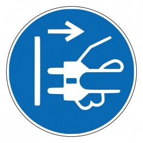 Aufkleber Gebotszeichen Netzstecker ziehen · ISO 7010 M006