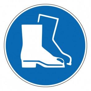 Aufkleber Gebotszeichen Fußschutz benutzen · ISO 7010 M008