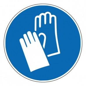 Aufkleber Gebotszeichen Handschutz benutzen · ISO 7010 M009