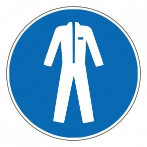 Aufkleber Gebotszeichen Schutzkleidung benutzen · ISO 7010 M010