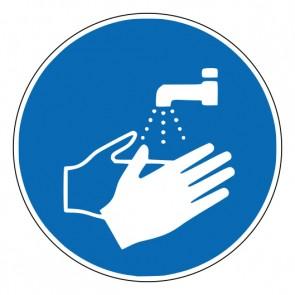 Aufkleber Gebotszeichen Hände waschen · ISO 7010 M011