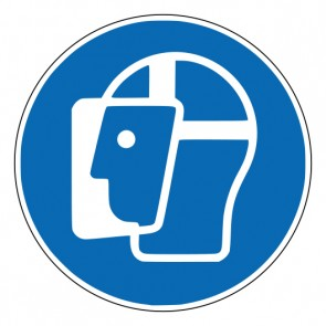 Magnetschild Gebotszeichen Gesichtsschutz benutzen · ISO 7010 M013
