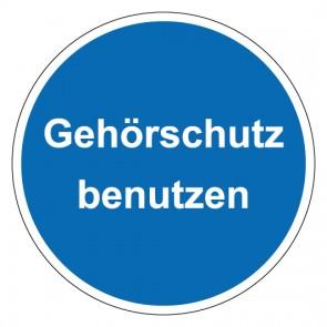 MAGNETSCHILD Gebotszeichen rund mit Text Gehörschutz benutzen