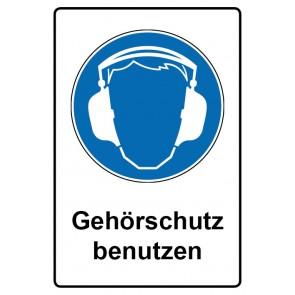 Gebotszeichen mit Text Gehörschutz benutzen · Magnetschild · Magnetfolie