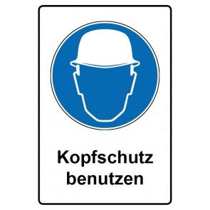 Kombi Schild Kopfschutz benutzen | Gebotszeichen