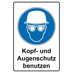Kombi Aufkleber Kopf- und Augenschutz benutzen | Gebotszeichen