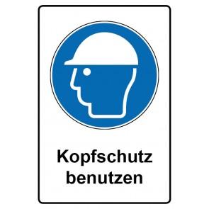 Kombi Aufkleber Kopfschutz benutzen | Gebotszeichen