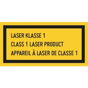 Magnetschild Laserklasse 1 · 3-sprachig