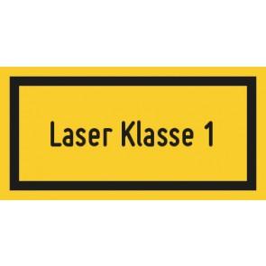 Schild Laserklasse 1