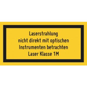 Magnetschild Laserklasse 1M · Sichtbare Strahlung