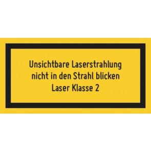 Magnetschild Laserklasse 2 · Unsichtbare Strahlung