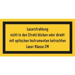 Magnetschild Laserklasse 2 M · Sichtbare Strahlung