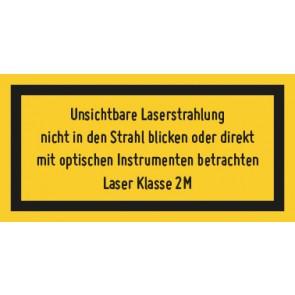 Magnetschild Laserklasse 2M · Unsichtbare Strahlung