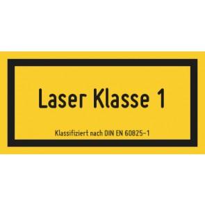 Magnetschild Laserklasse 1 · DIN EN 60825-1