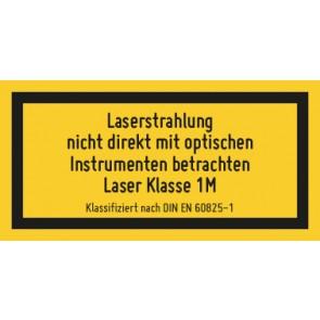 Magnetschild Laserklasse 1M · Sichtbare Strahlung · DIN EN 60825-1
