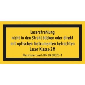 Magnetschild Laserklasse 2 M · Sichtbare Strahlung · DIN EN 60825-1