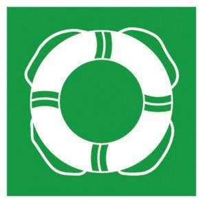 Rettungszeichen Schild Rettungsring, Schwimmring