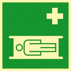 Aufkleber Nottrage Krankentrage · NACHLEUCHTEND