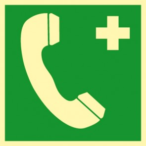Aufkleber Notruftelefon Notruf · NACHLEUCHTEND
