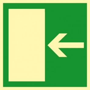 Aufkleber Rettungsweg links · NACHLEUCHTEND