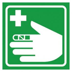 Aufkleber Erste Hilfe Verbandsachen