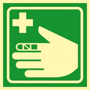 Aufkleber Erste Hilfe Verbandsachen · NACHLEUCHTEND