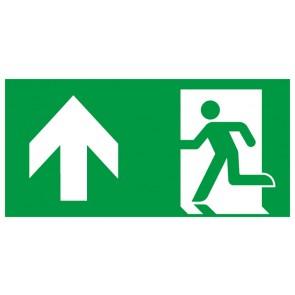 Rettungszeichen Fluchtrichtung Pfeil nach oben · Magnetschild - Magnetfolie