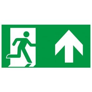 Schild Rettungszeichen Fluchtrichtung Pfeil nach oben