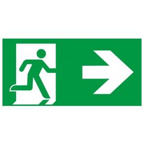 Schild Rettungszeichen Fluchtrichtung Pfeil nach rechts