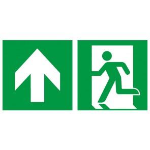 Aufkleber Rettungszeichen Fluchtrichtung Pfeil nach oben