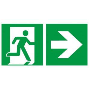 Rettungszeichen Fluchtrichtung Pfeil nach rechts · Magnetschild - Magnetfolie