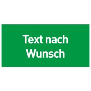 Schild Rettungszeichen Text nach Wunsch