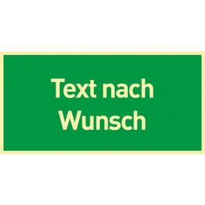 Aufkleber Rettungszeichen Text nach Wunsch · NACHLEUCHTEND
