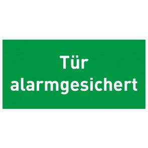 Schild Rettungszeichen Tür alarmgesichert