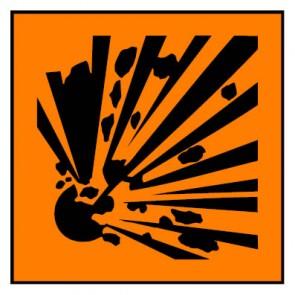 Schild Gefahrstoffzeichen explosionsgefährlich Hazard_E