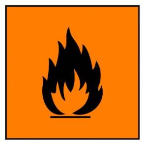 Schild Gefahrstoffzeichen hochentzündlich Hazard_FGefahrstoffzeichen hochentzündlich Hazard_F