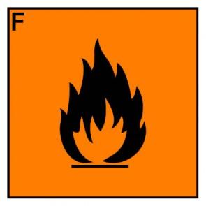Schild Gefahrstoffzeichen leichtentzündlich Hazard_F