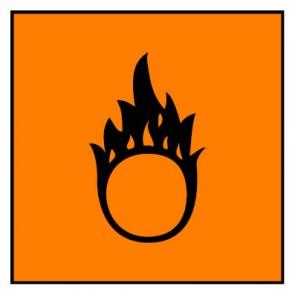 Aufkleber Gefahrstoffzeichen brandfördernd Hazard_O